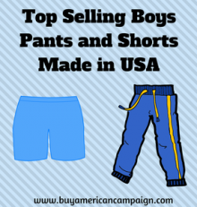 Top Selling Boys Pants and Shorts Made in USA